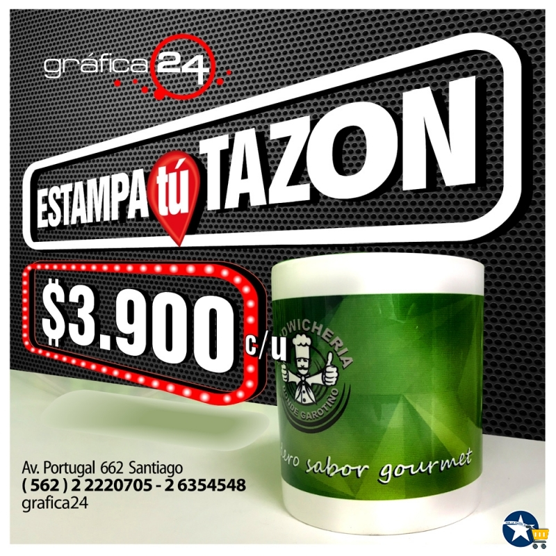 Tazones Estampados Sublimados full color a $3.900