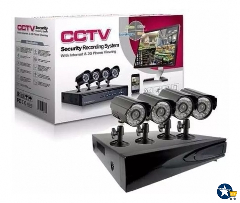 Kit 4 Camaras de seguridad mas DVR